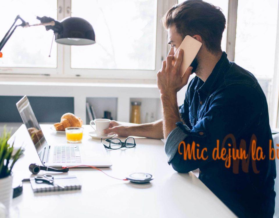 Doza de energie necesară unei dimineți solicitante la birou