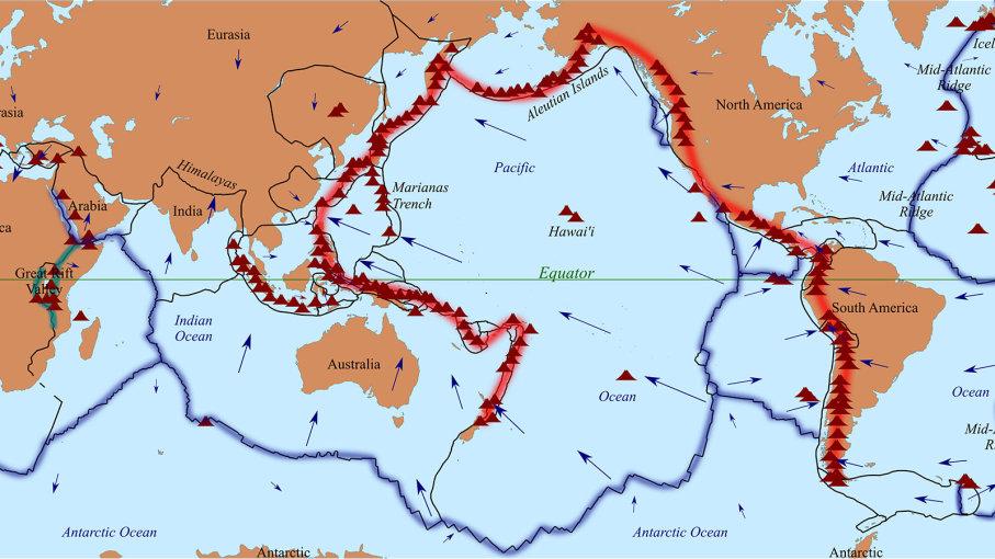 7 fapte calde despre inelul de foc din Pacific - I